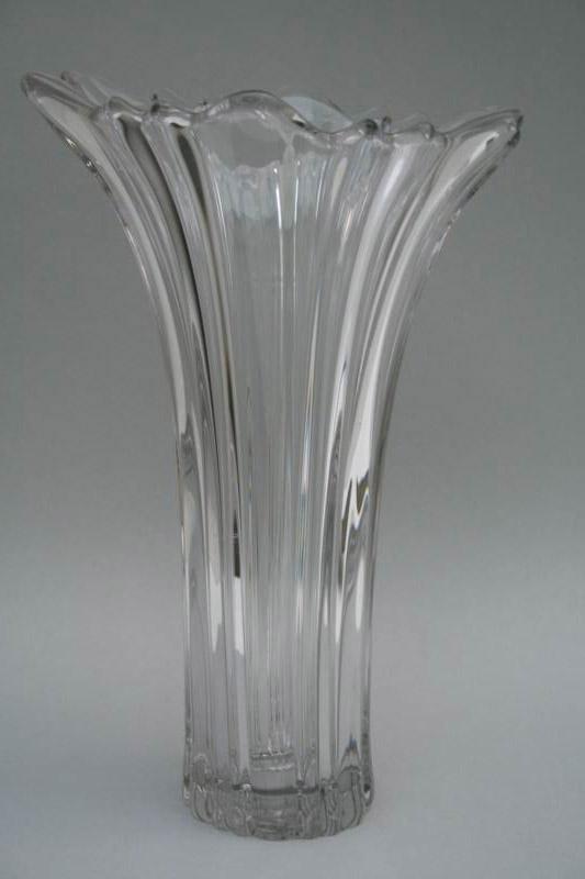 gro e glasvase kristallglas um 1950 ebay. Black Bedroom Furniture Sets. Home Design Ideas