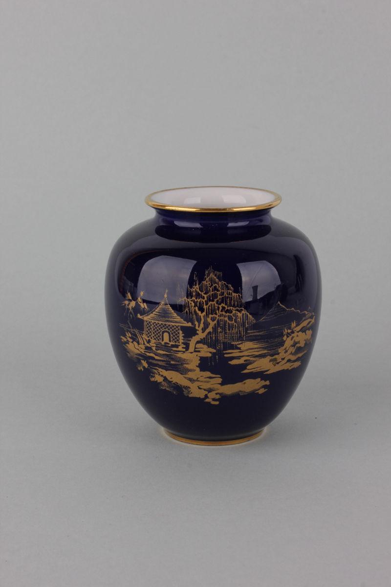 kleine vase echt kobalt heinrich porzellan ebay. Black Bedroom Furniture Sets. Home Design Ideas