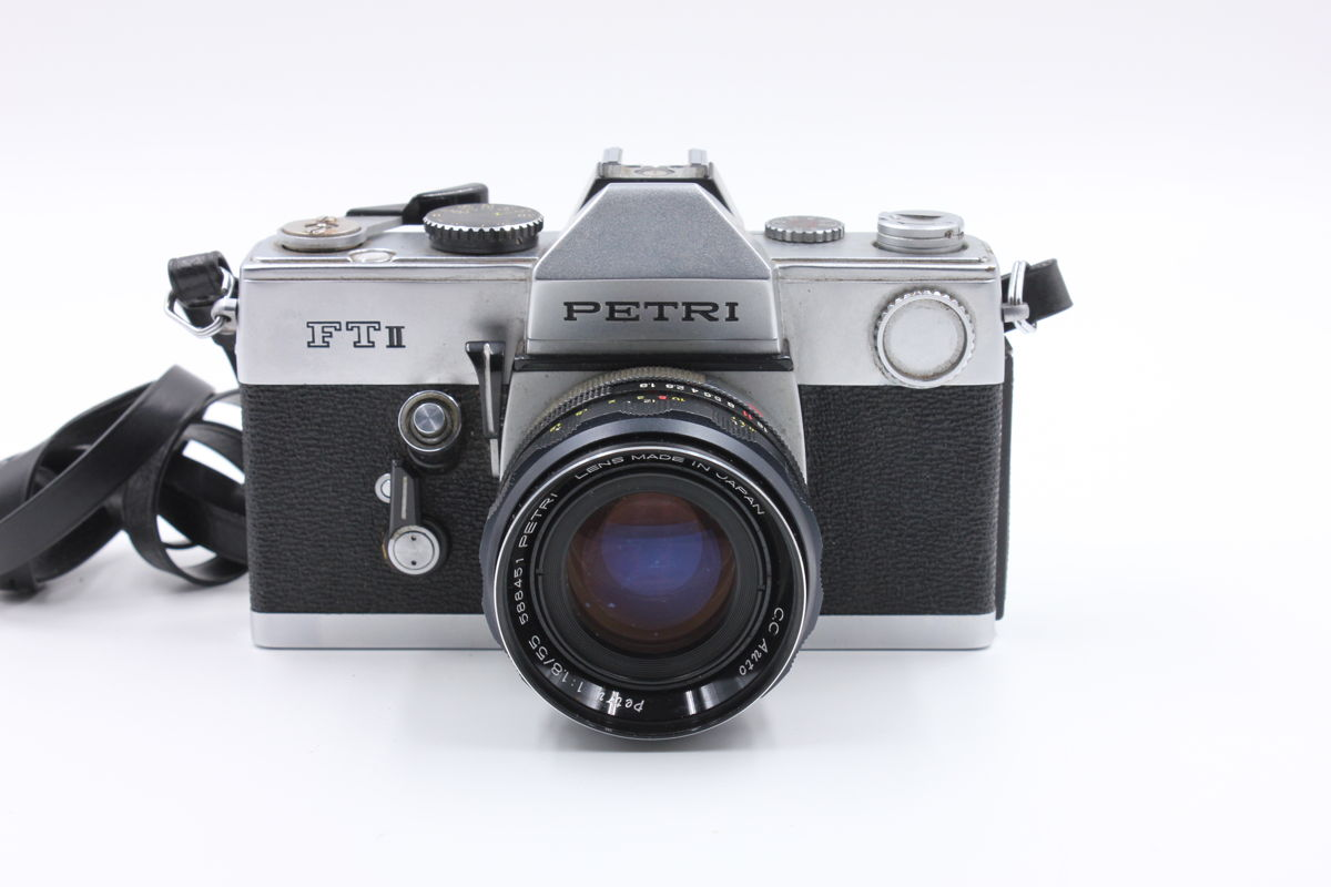spiegelreflexkamera petri ft ii mit 1 1 8 55 mm ebay. Black Bedroom Furniture Sets. Home Design Ideas